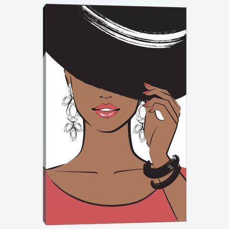 Hat Lady II Canvas Print #PAV83} by Martina Pavlova Canvas Artwork