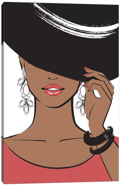 Hat Lady II Canvas Art Print