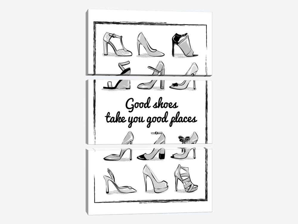 Heels Quote by Martina Pavlova 3-piece Art Print
