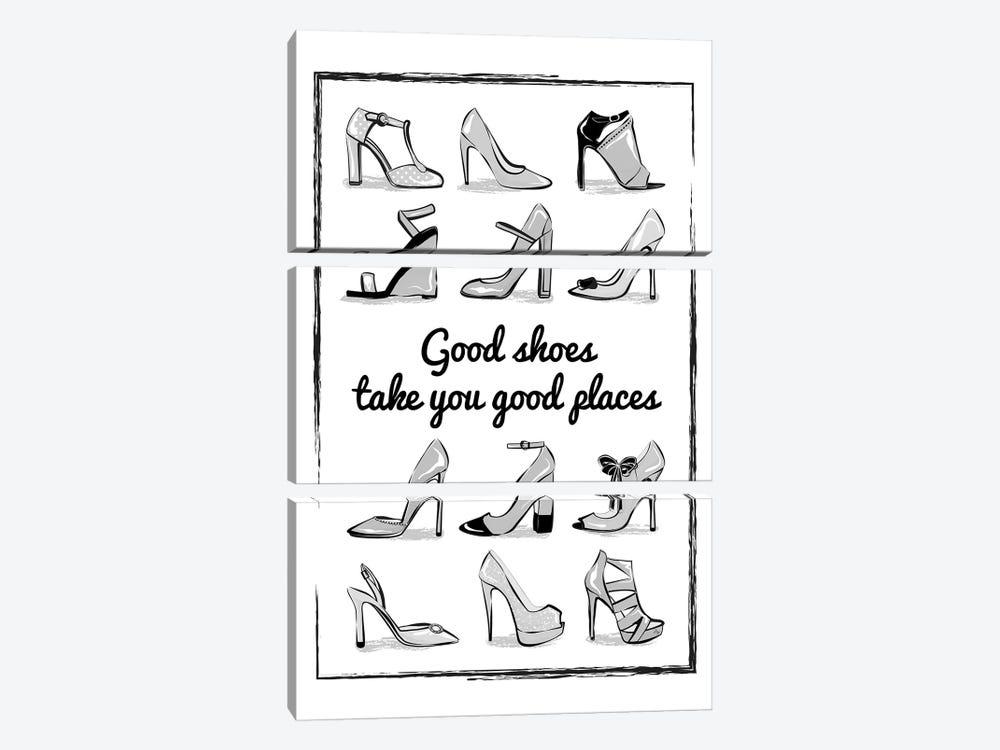 Heels Quote by Martina Pavlova 3-piece Art Print