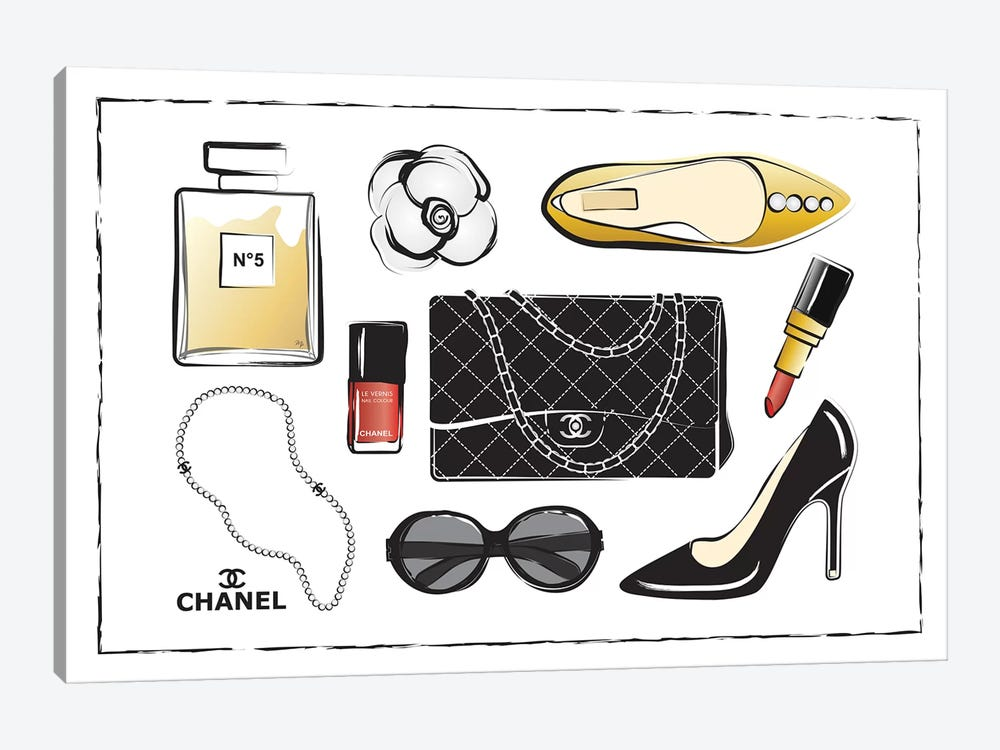 Chanel Accessories by Martina Pavlova 1-piece Canvas Wall Art