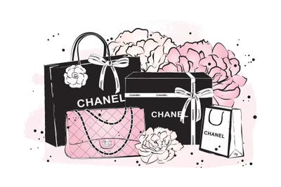 d3f7e4e5f8a8 Chanel Bags Art Print by Martina Pavlova | iCanvas