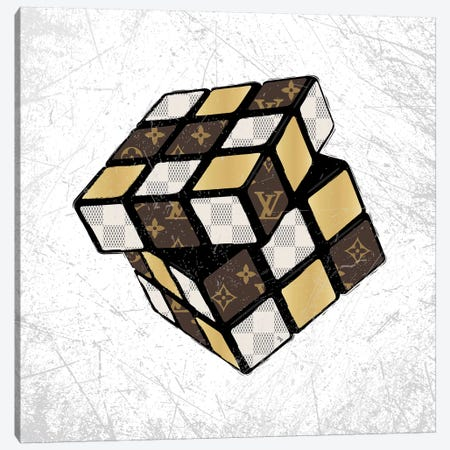 LV Cube Canvas Print #PAV90} by Martina Pavlova Canvas Art Print