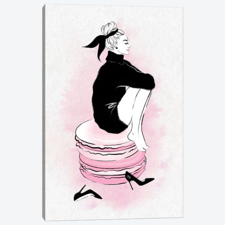 Macaron Girl Canvas Print #PAV91} by Martina Pavlova Canvas Art Print