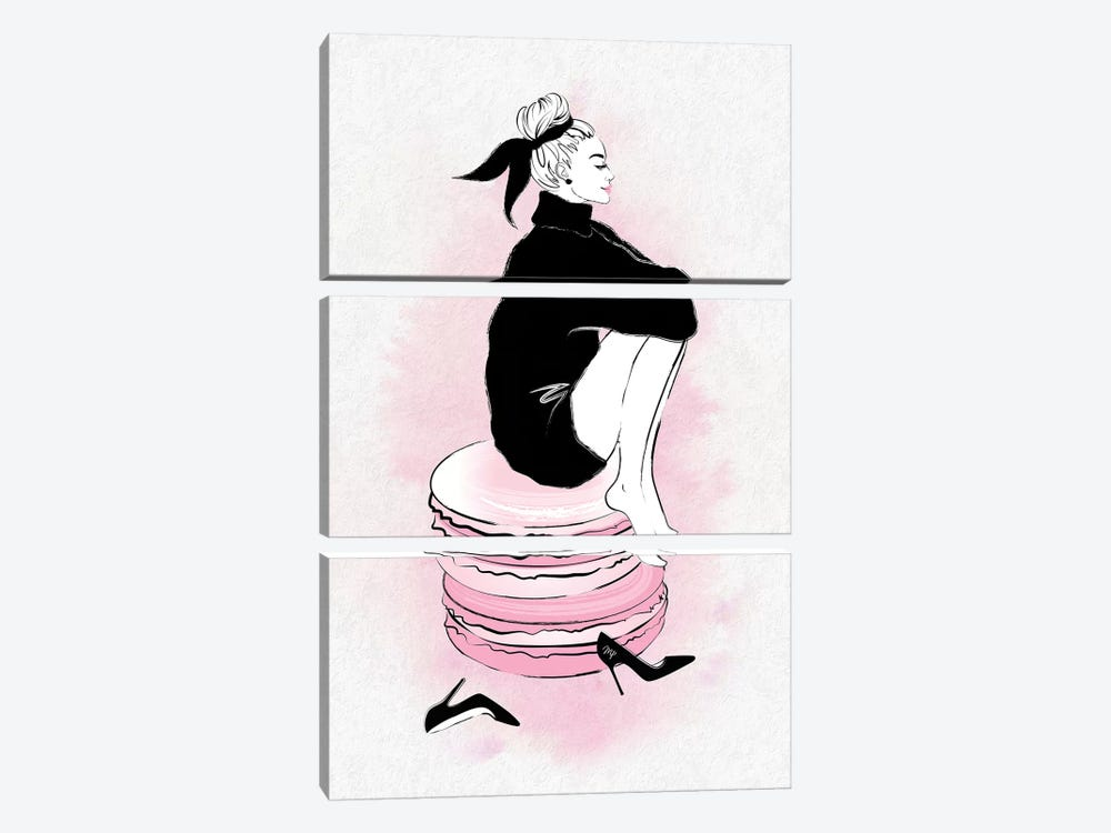 Macaron Girl by Martina Pavlova 3-piece Art Print