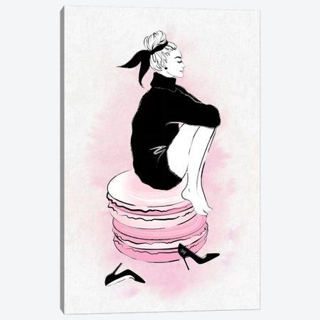 Macaron Girl Canvas Print #PAV91} by Martina Pavlova Canvas Art Print
