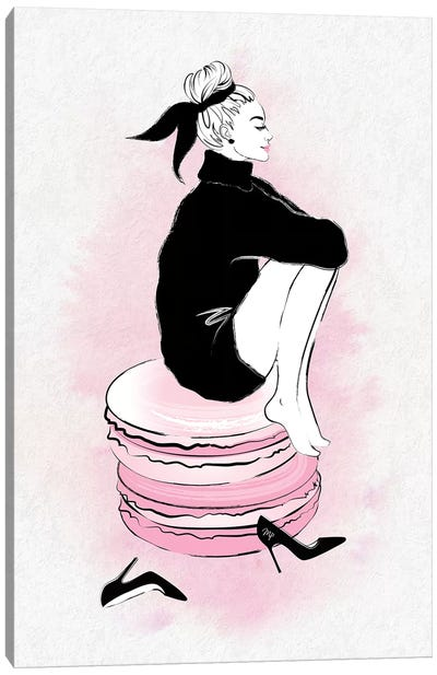 Macaron Girl Canvas Art Print