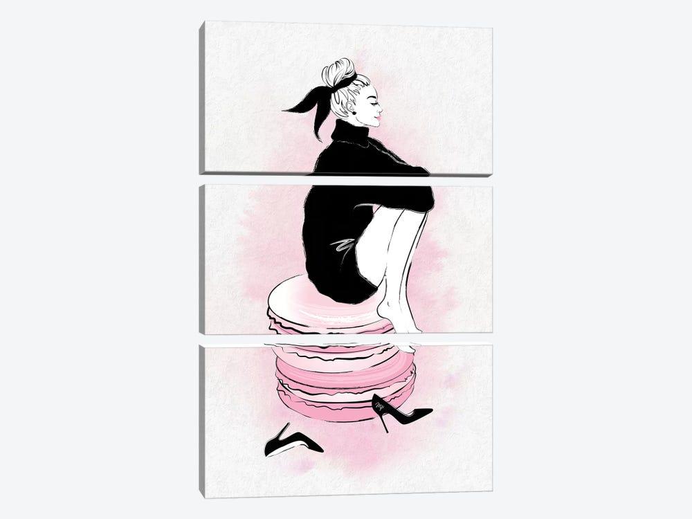 Macaron Girl by Martina Pavlova 3-piece Art Print