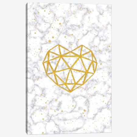 Marble Heart Canvas Print #PAV92} by Martina Pavlova Art Print