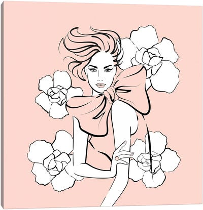 Pink Lady Canvas Art Print