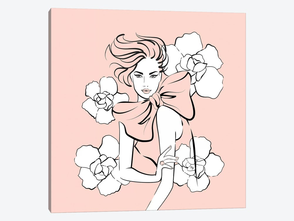Pink Lady by Martina Pavlova 1-piece Canvas Art Print