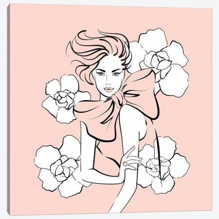 Pink Lady Canvas Print #PAV95} by Martina Pavlova Canvas Artwork