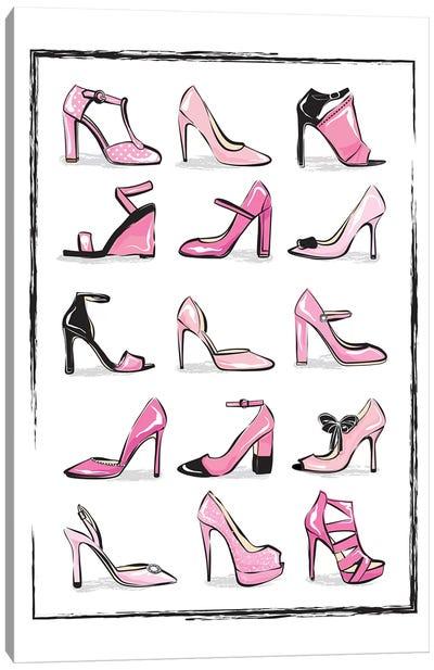 Pink Shoes Canvas Art Print