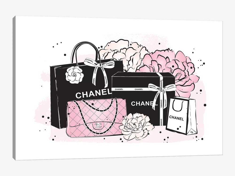 Chanel Bags by Martina Pavlova 1-piece Canvas Art Print
