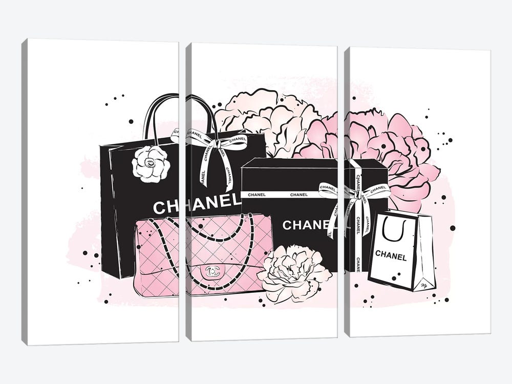 Chanel Bags by Martina Pavlova 3-piece Canvas Art Print