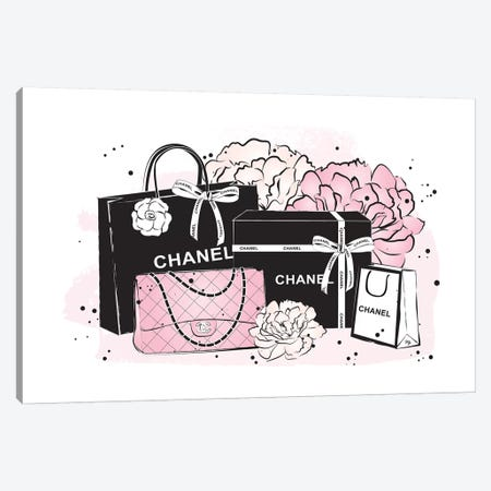 Chanel Bags Canvas Print #PAV9} by Martina Pavlova Canvas Wall Art