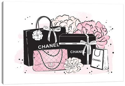 Chanel Bags Canvas Art Print