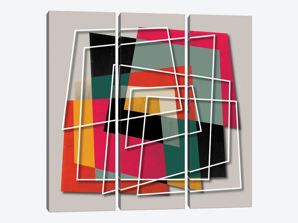 Fill & Stroke III by Susana Paz 3-piece Canvas Wall Art