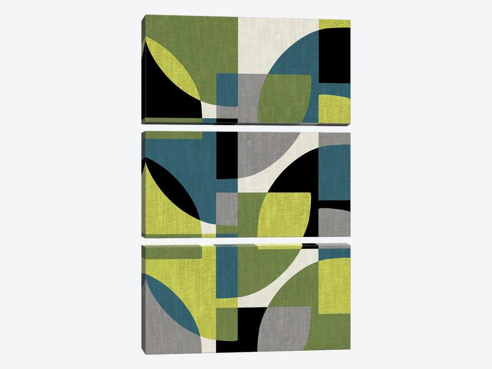 Fragments IV by Susana Paz 3-piece Canvas Print