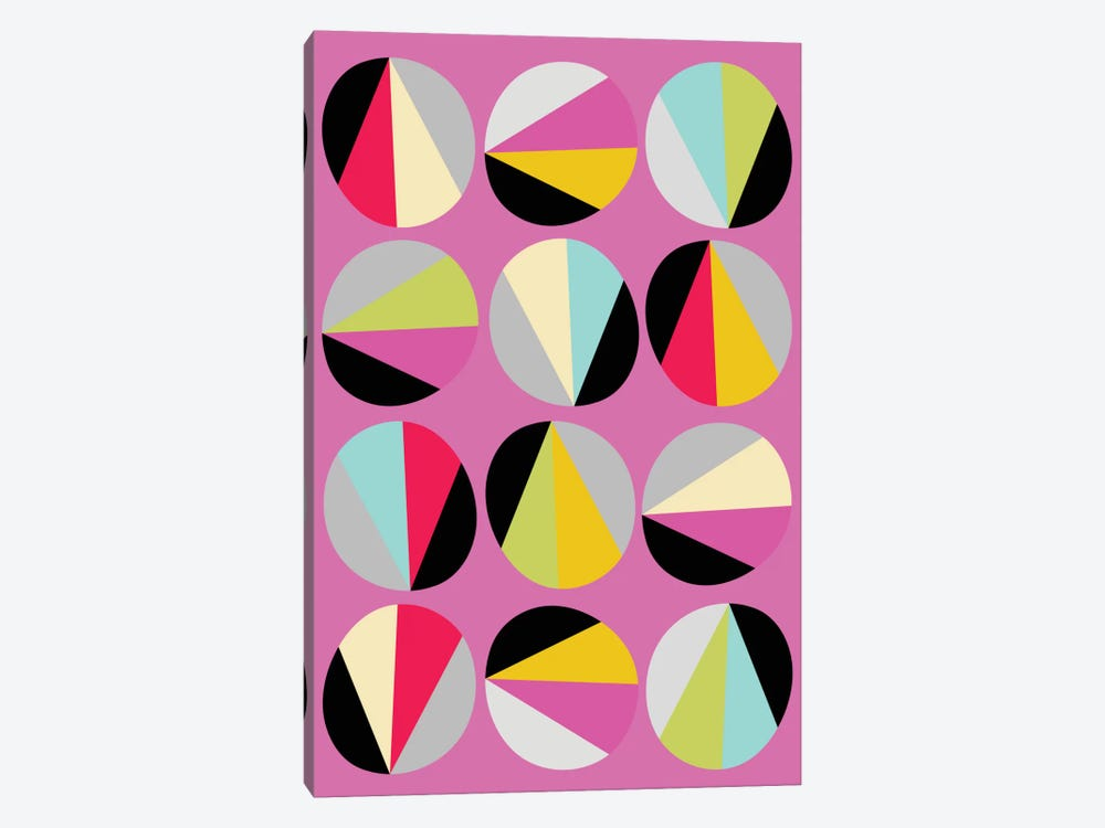 Circles Game III by Susana Paz 1-piece Canvas Wall Art