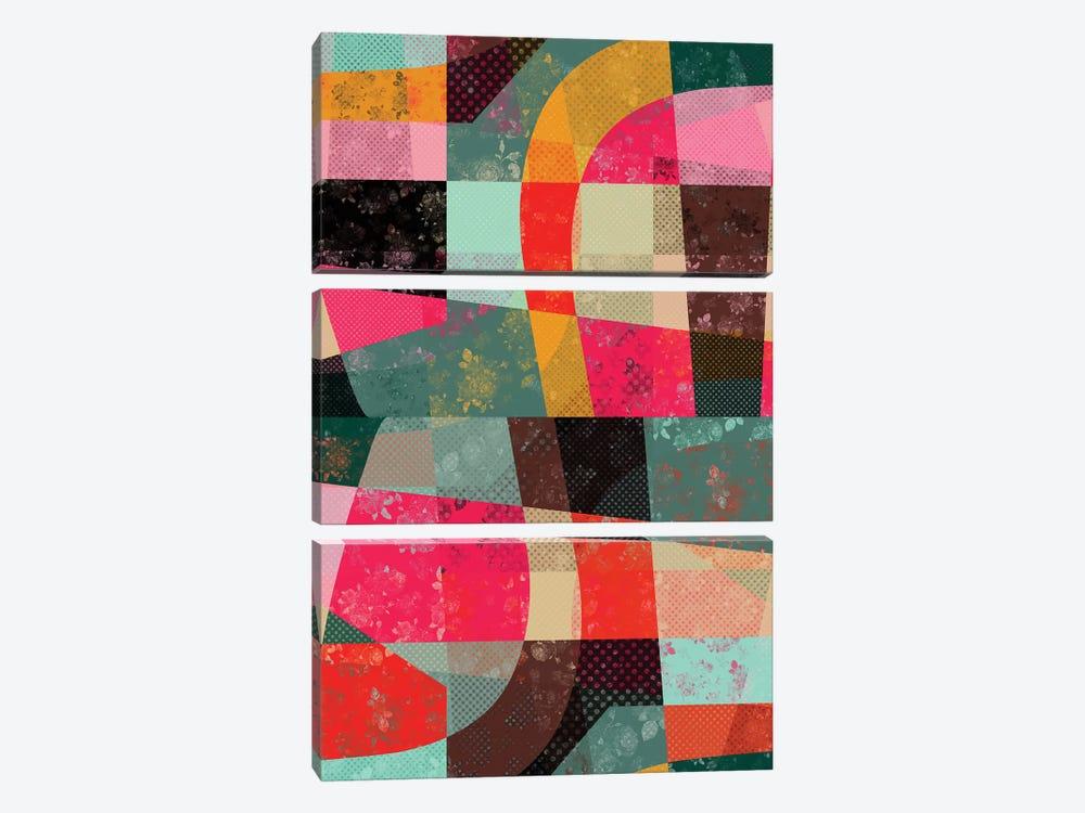 Fragments X by Susana Paz 3-piece Canvas Art
