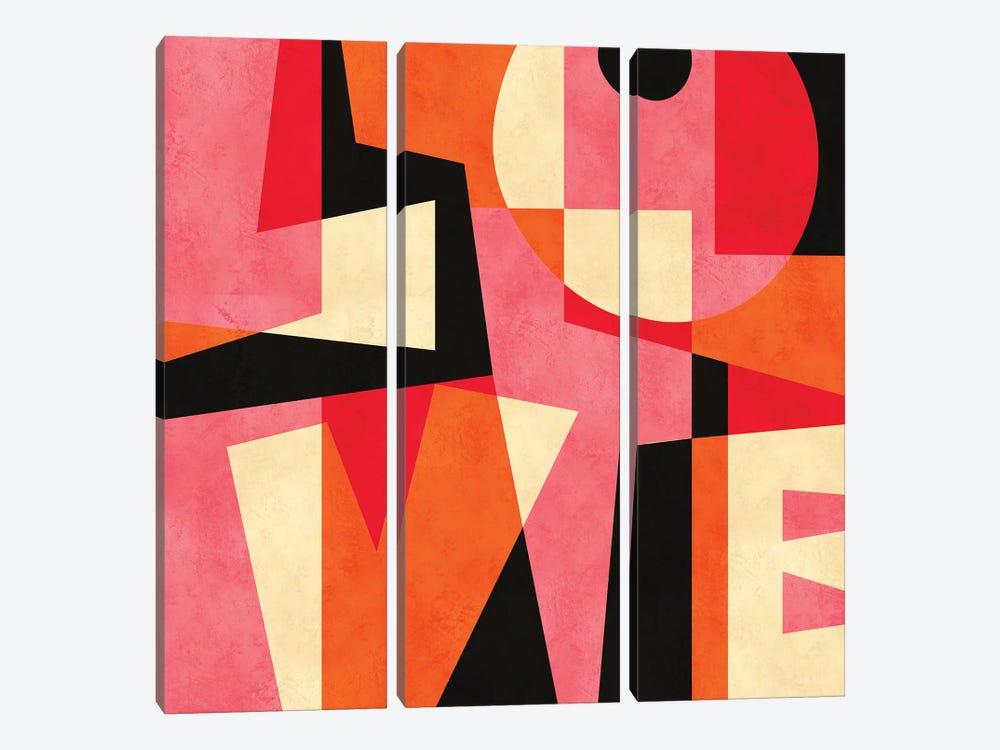 LOVE by Susana Paz 3-piece Canvas Wall Art