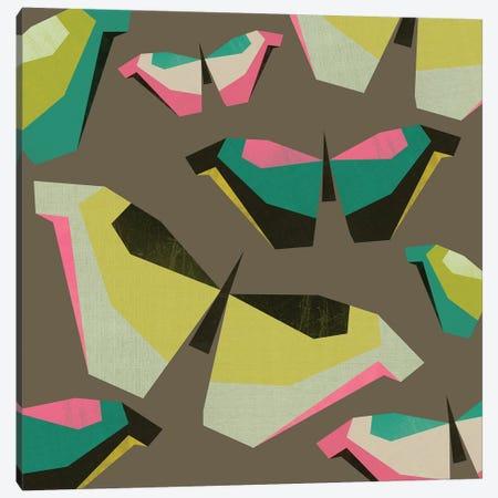 Neon Butterflies Canvas Print #PAZ116} by Susana Paz Canvas Art