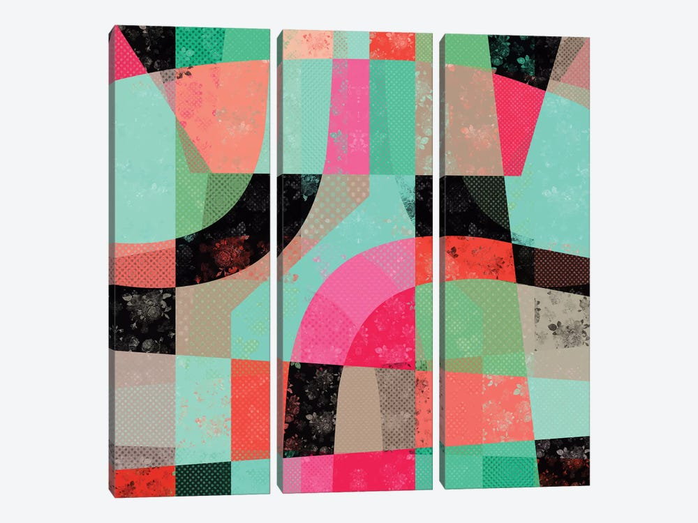 Patchwork by Susana Paz 3-piece Canvas Wall Art
