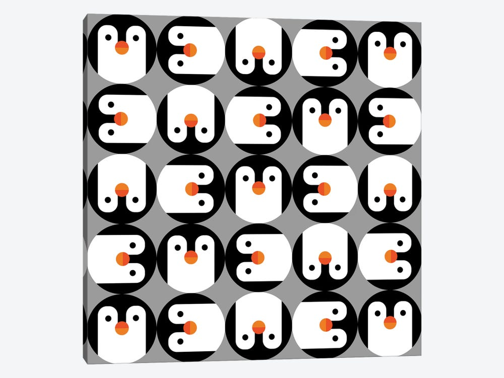 The Penguin Club by Susana Paz 1-piece Canvas Print