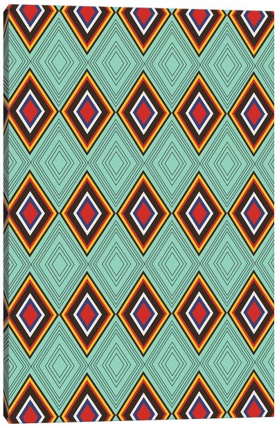 Tribal X Canvas Art Print