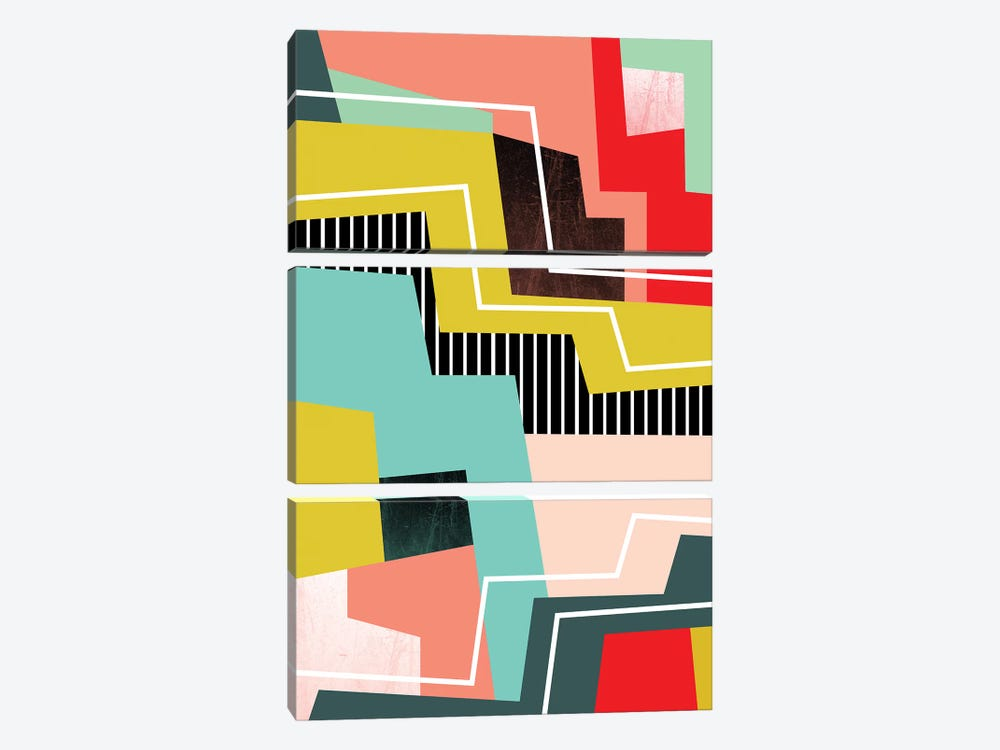 Color Block I by Susana Paz 3-piece Canvas Art Print