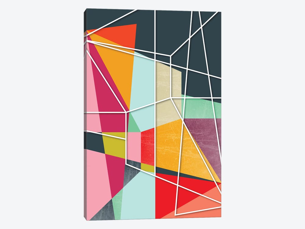 Color Block V by Susana Paz 1-piece Canvas Art Print