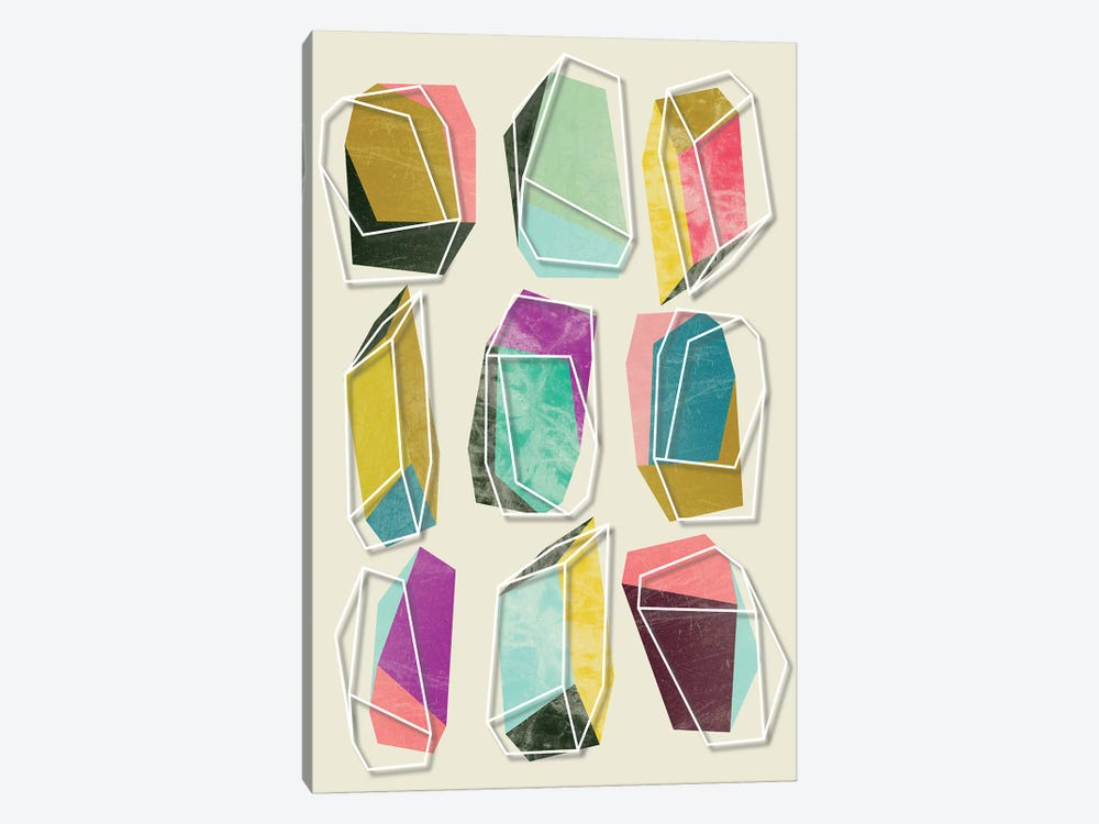 Colors And Crystals by Susana Paz 1-piece Canvas Artwork