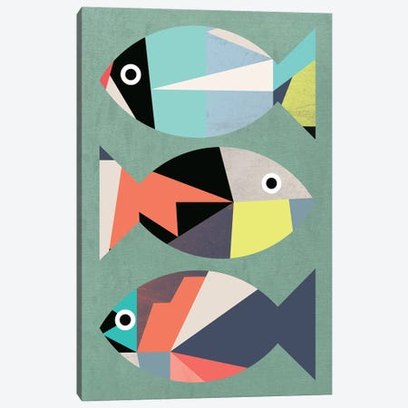 Little Fish Canvas Print #PAZ144} by Susana Paz Art Print