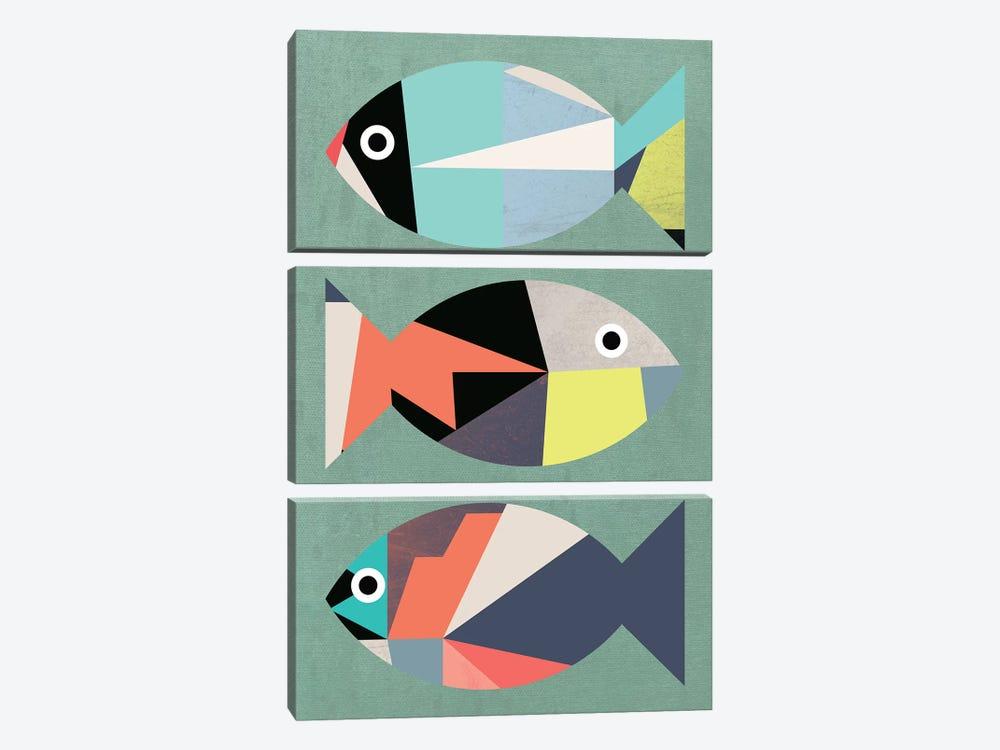 Little Fish by Susana Paz 3-piece Canvas Wall Art