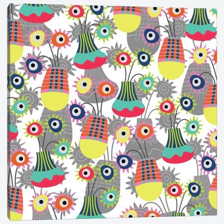 Flower Pots Canvas Print #PAZ16} by Susana Paz Canvas Artwork