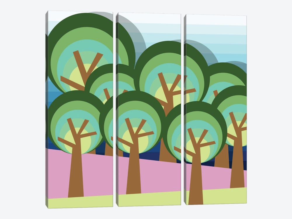 Forest by Susana Paz 3-piece Canvas Print