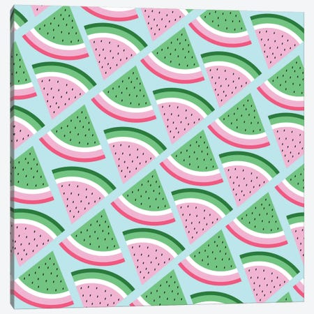 Fresh Watermelon Canvas Print #PAZ21} by Susana Paz Canvas Artwork