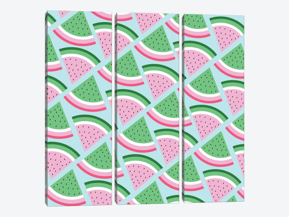Fresh Watermelon by Susana Paz 3-piece Canvas Wall Art