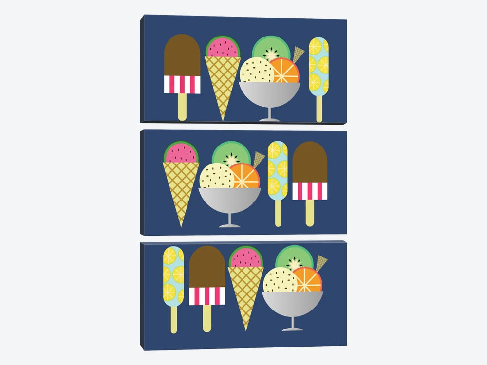 Gelato by Susana Paz 3-piece Art Print