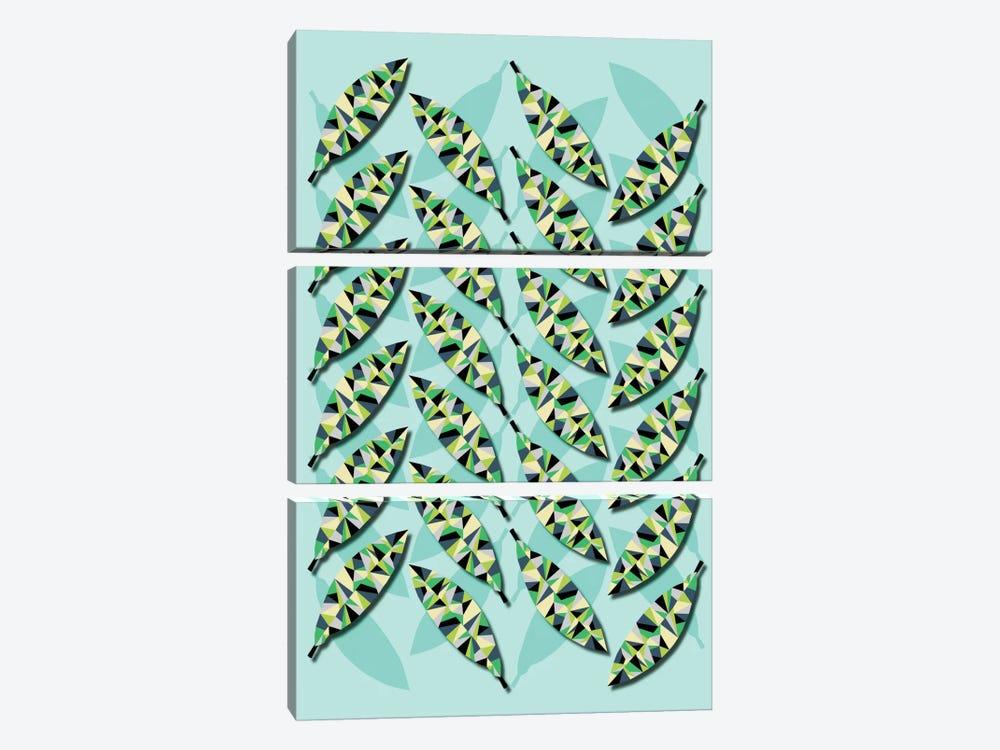 Geometric Leaves by Susana Paz 3-piece Canvas Artwork