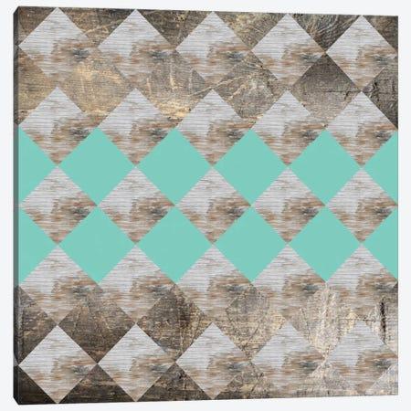 Geometric Wood Canvas Print #PAZ24} by Susana Paz Art Print