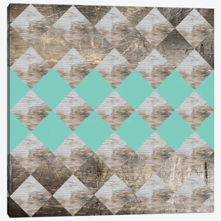 Geometric Wood Canvas Print #PAZ24} by Susana Paz Art Print