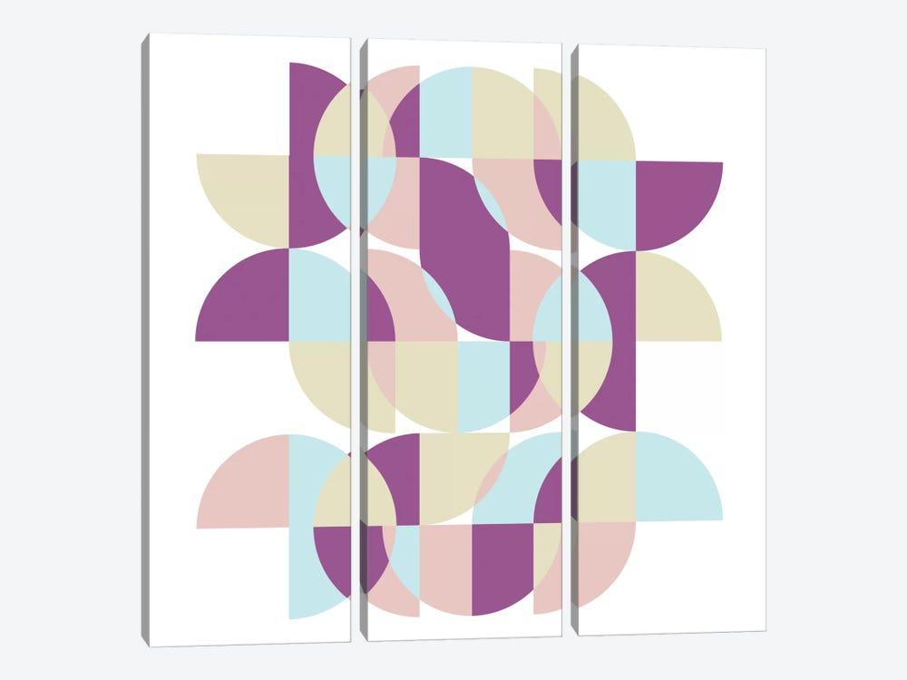 Geometric X by Susana Paz 3-piece Canvas Wall Art