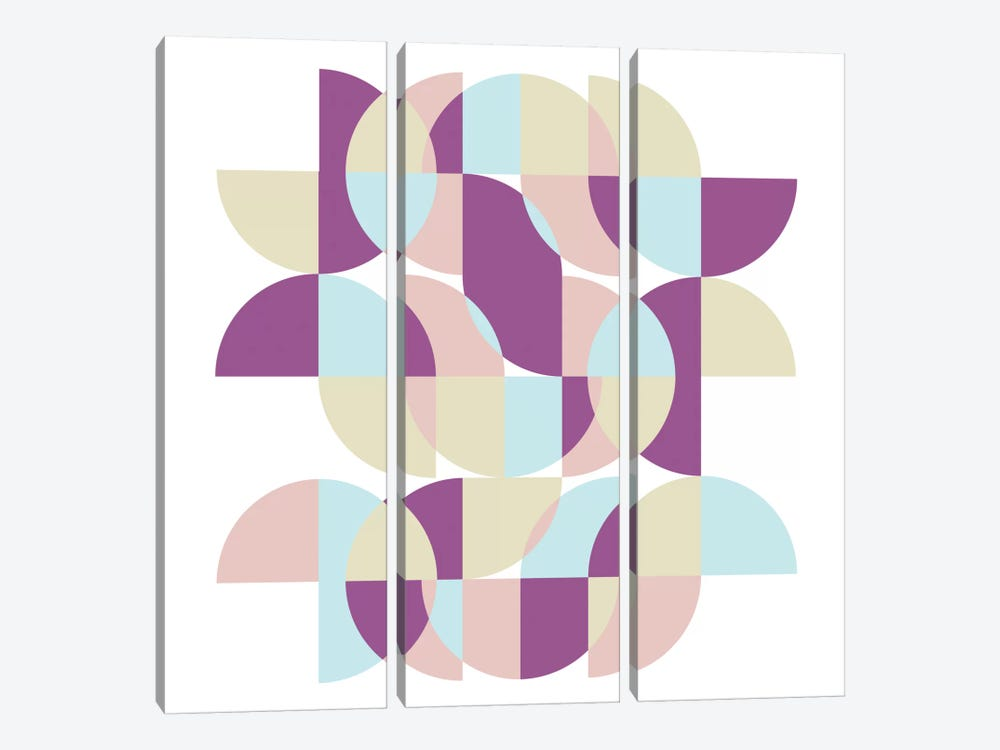 Geometric X by Susana Paz 3-piece Canvas Wall Art