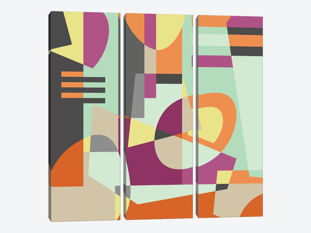 Geometric XI by Susana Paz 3-piece Canvas Print