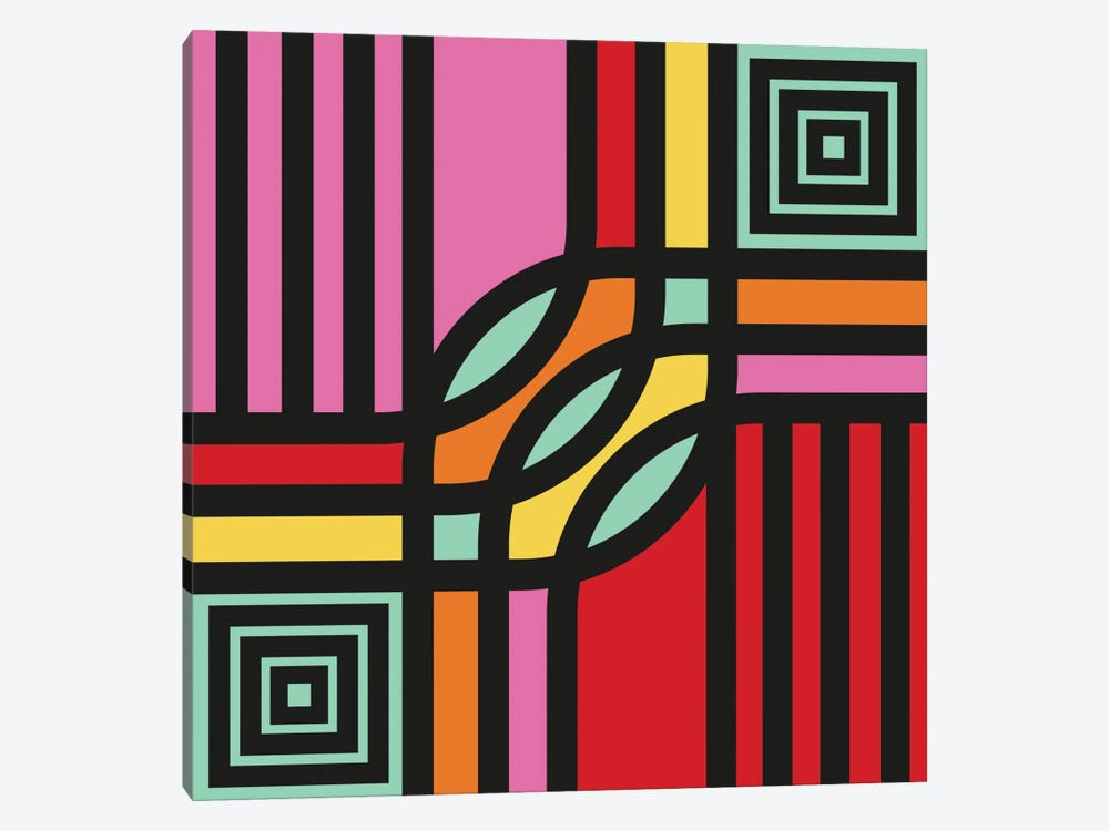 Geometric XII by Susana Paz 1-piece Canvas Artwork