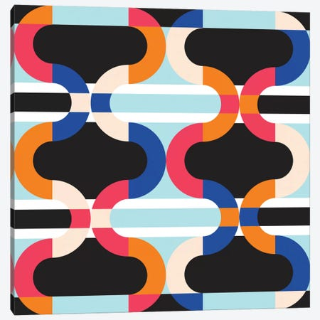Geometric XVII Canvas Print #PAZ32} by Susana Paz Art Print
