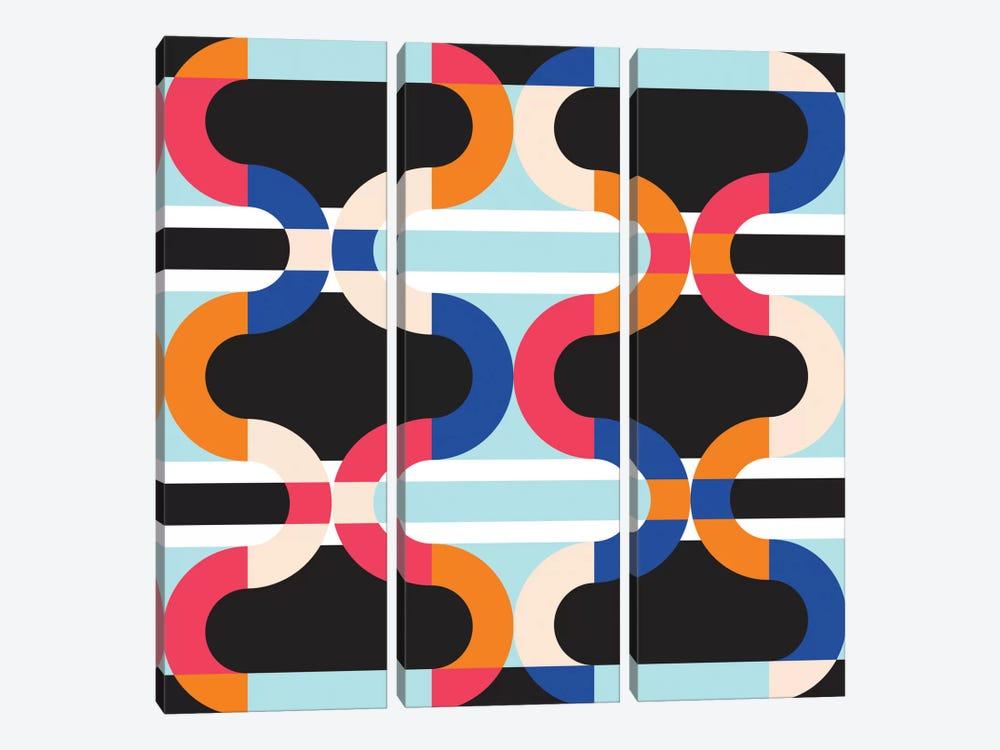 Geometric XVII by Susana Paz 3-piece Canvas Artwork