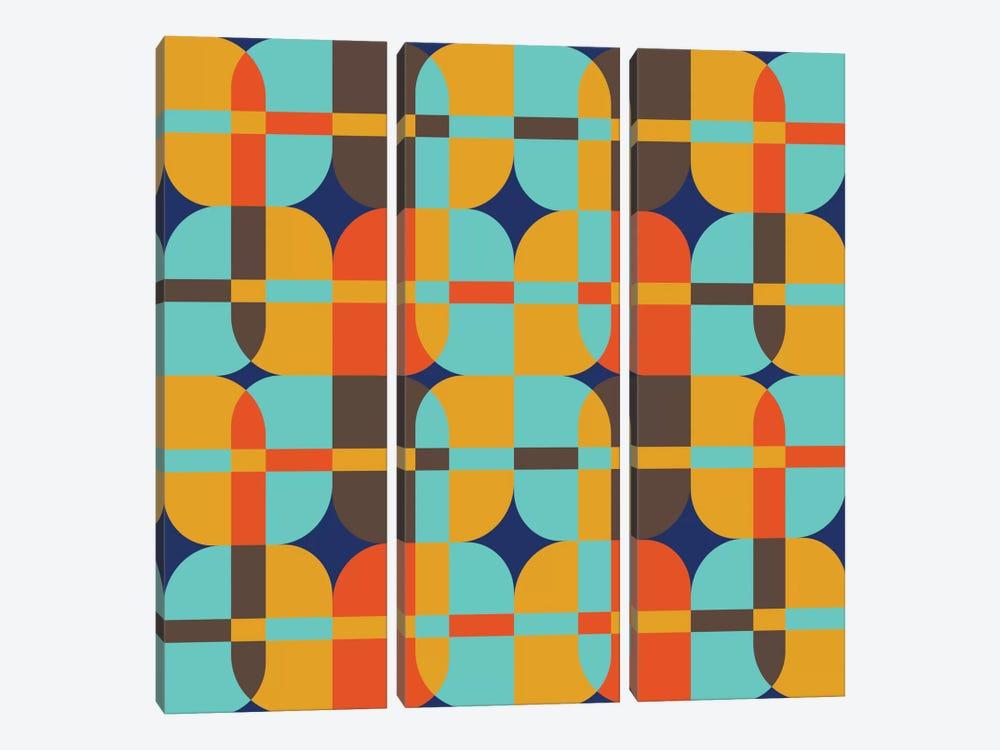 Geometric XX by Susana Paz 3-piece Canvas Art Print